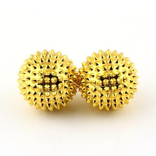 Small magnetic acupressure balls
