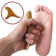 Wooden acupressure triangle