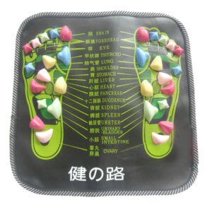 Colorful foot reflexology mat