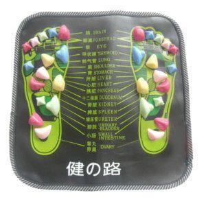 Colorful foot reflexology mat