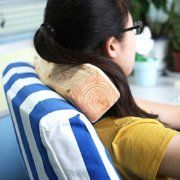 Wood imitation neck pillow